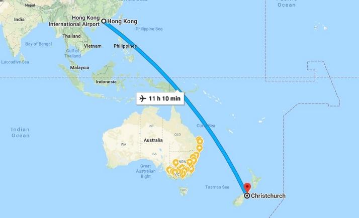 新航线国泰航空新西兰直飞